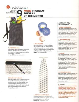 Real simple feature car trash bag the mod mobile october 2011