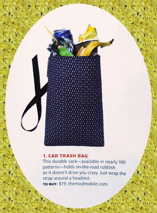 Real simple october 2011 car trash bag close up