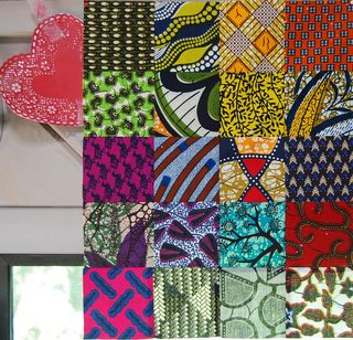 African wax print patchwork